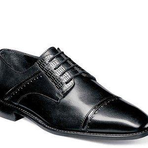 sz 8 Stacy Adams Black Leather formal dress shoes